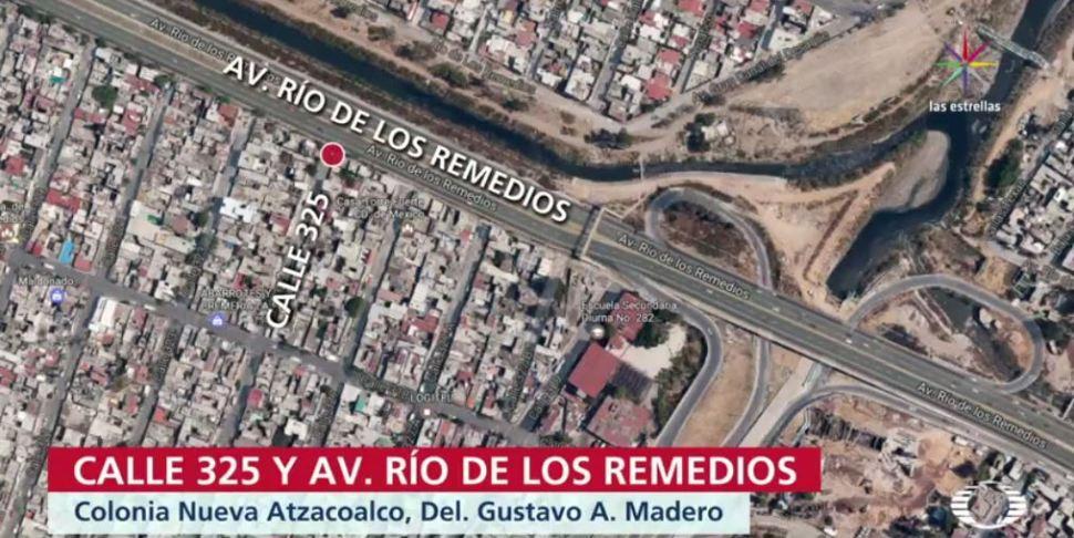 Mapa del sitio donde la víctima de un robo ubicó sus pertenencias mediante GPS (Noticieros Televisa)