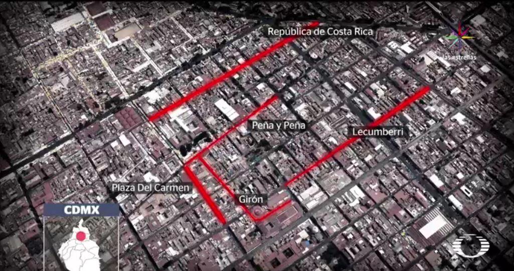 En estas calles, es donde actúan los extorsionadores. (Noticieros Televisa)
