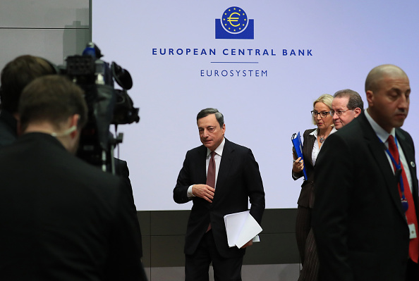 Mario Draghi, presidente del Banco Central Europeo. (Getty Images)