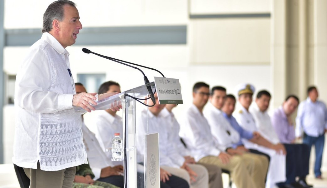 El secretario de Hacienda, José Antonio Meade, visitó el Centro de Atención Integral al Tránsito Fronterizo en Chiapas.