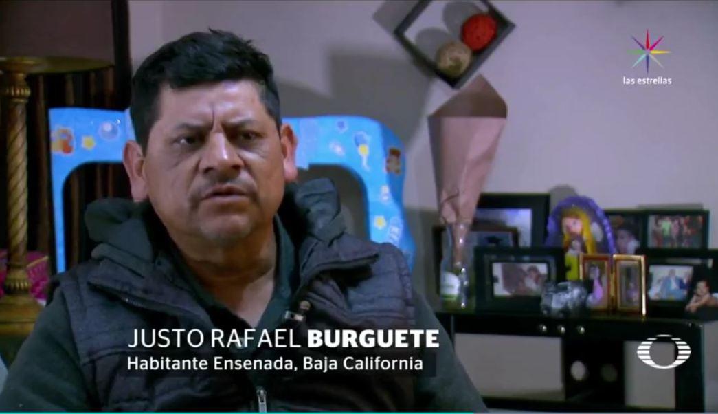 El lunes pasado, en la garita de Otay, Tijuana, oficiales de migración de Estados Unidos le retiraron, sin motivo, su visa de turista a Justo Rafael Burguete Quintero cuando se dirigía a California, de compras; él asegura que recibió amenazas y malos tratos. (Noticieros Televisa)