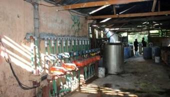Narcolaboratorio descubierto en la frontera de México con Guatemala (Notimex, archivo)