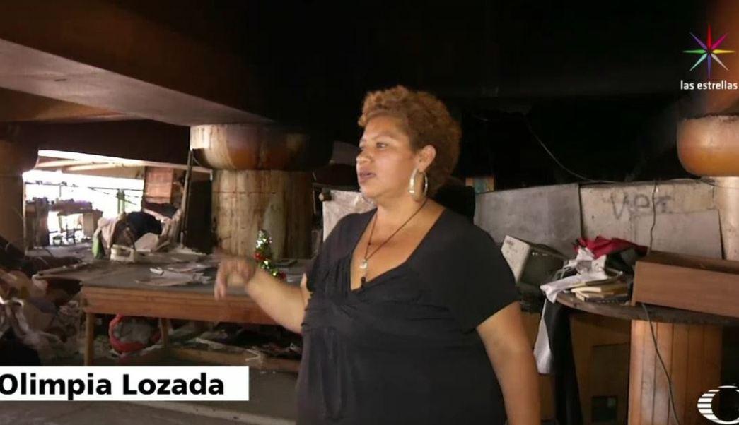 Olimpia y sus hijos pasaron seis años bajo un puente vehicular que cruza una de las avenidas más importantes de la CDMX. (Noticieros Televisa)