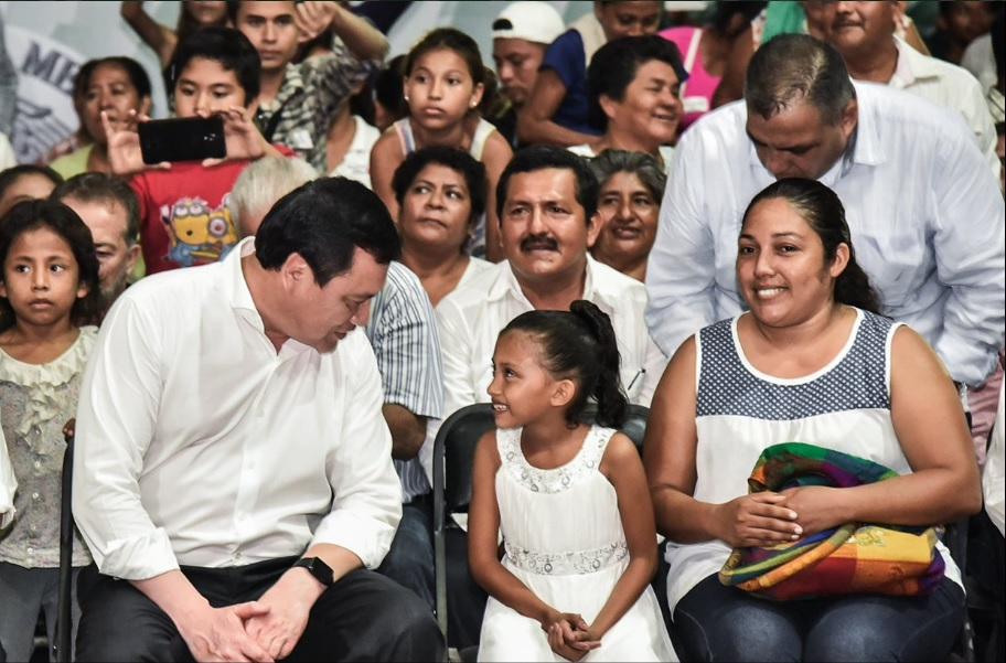 Miguel Ángel Osorio Chong participa en un evento con el Gobierno de Chiapas (Twitter @osoriochong)