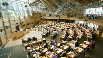 Cámara de debates del Parlamento de Escocia (AP, archivo)
