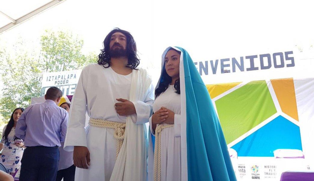 Eder Omar Arriola Ortega interpretará Jesús y Andrea Pérez Balderas será la Virgen María. (Twitter: @Del_Iztapalapa)