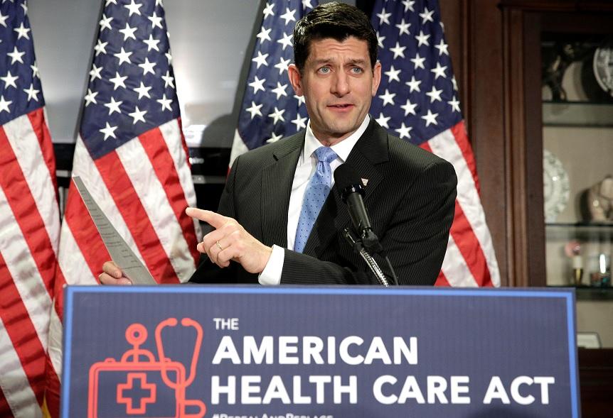 El presidente de la Cámara de Representantes, Paul Ryan, habla sobre la Ley Americana de Cuidado de la Salud, el reemplazo republicano del Obamacare (Reuters)