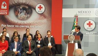 El presidente Peña Nieto exhorta a apoyar la colecta nacional de la Cruz Roja 2017. (Twitter/@CruzRoja_MX)