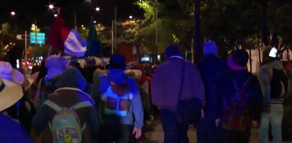 Peregrinos en la Ciudad de México (Noticieros Televisa)
