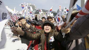 Los simpatizantes de Park fueron los que protagonizaron algunos episodios violentos y cuatro de ellos fueron detenidos. (AP)