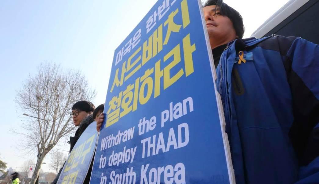 Protestas en Corea del Sur contra el Escudo antimisiles de Estados Unidos. (AP)
