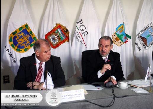 Primera sesión ordinaria de la Conferencia Nacional de Procuradores zona centro. (Twitter @PGR_mx)