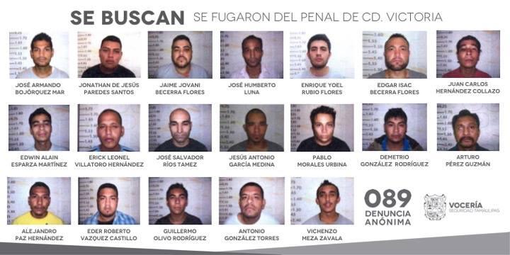 29 reos escaparon a través de un túnel del penal de Ciudad Victoria, Tamaulipas. (Facebook-Vocería Seguridad Tamaulipas)