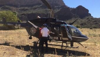 Cinco personas fueron rescatadas en Cerro 'Ojo de Agua' en Sonora. (Twitter @ssp_sonora)