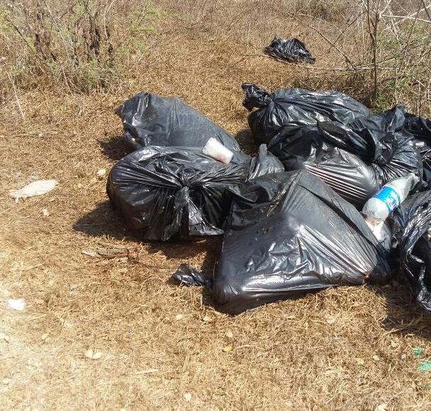 Bolsas con restos humanos son hallados en un camino de terracería que va de la cabecera municipal de Chilapa a la localidad de Xulchuchuio (Noticieros Televisa)