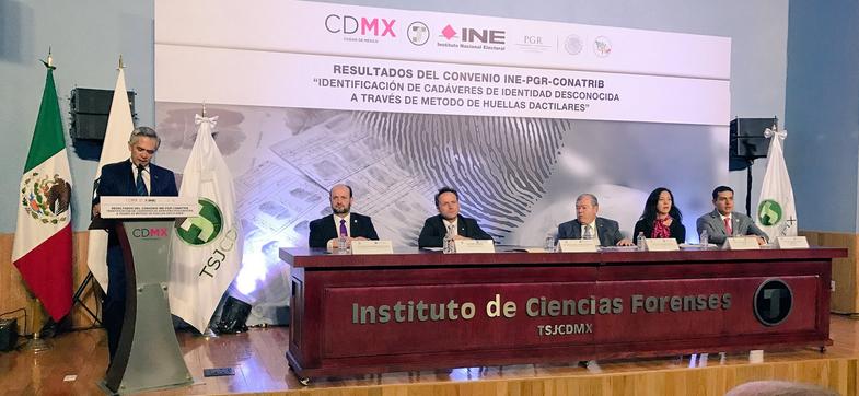 El jefe de gobierno reconoció el trabajo de las dependencias de esta capital por cumplir con el convenio de identificación de cadáveres. (PGJCDMX)