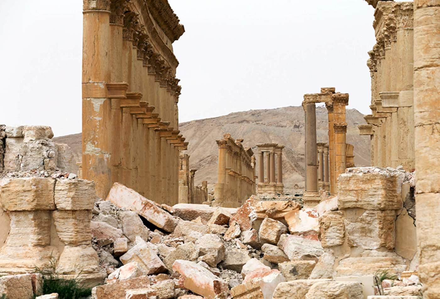 Ruinas de Palmira tras la ocupacion del Estado Islámico (AP, archivo)