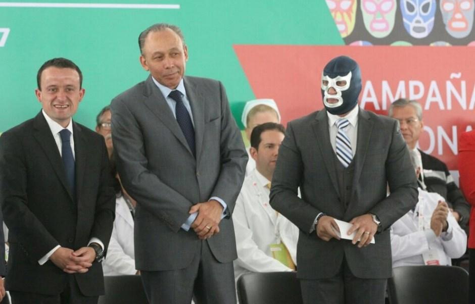 El director general del ISSSTE, José Reyes Baeza, dio por concluida la campaña 'Febrero, mes de la salud del hombre'; en el evento estuvo presente el director del IMSS, Mikel Arriola.