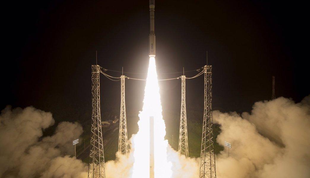 El Sentinel-2B, que pesa 1.1 toneladas, despegó con éxito desde Guayana Francesa.
