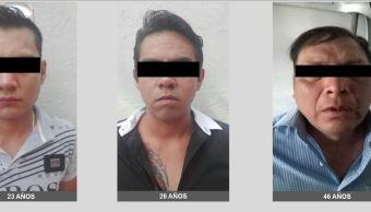 Tres sujetos son detenidos cuando recorrían calles de la colonia Obrera, con una persona secuestrada. (PGJ-CDMX)