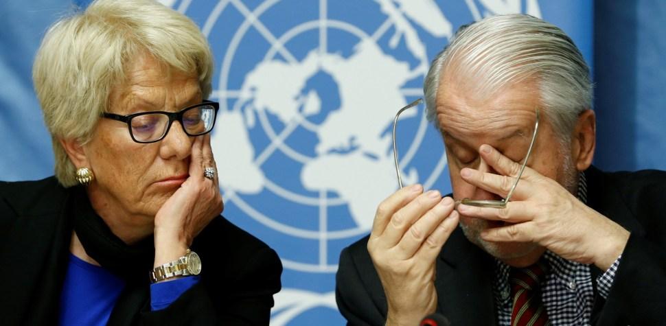 Conferencia de prensa sobre los acontecimientos en Alepo, Siria en las Naciones Unidas en Ginebra, Suiza (Reuters)