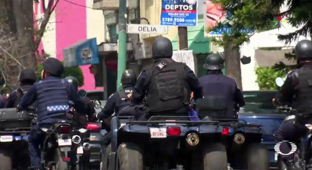 Ante el incremento de los asaltos a negocios en la colonia Guadalupe Tepeyac, en la delegación Gustavo A. Madero, la Policía Preventiva de la SSP-CDMX realiza un operativo en la colonia. (Noticieros Televisa)