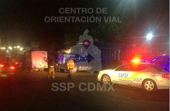 SSPCDMX implementa operativo al interior de la Central de Abasto para evitar estacionamiento prohibido. (Twitter @OVIALCDMX)