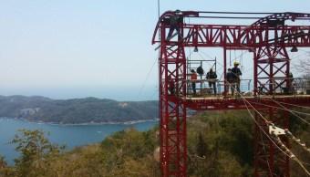 La tirolesa más larga del mundo sobre el mar, ubicada en Acapulco, Guerrero, cumple con todas las medidas de seguridad. (Foto: Daniel Rodríguez, FOROtv)