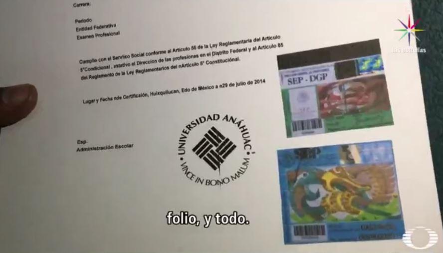 Título profesional falsificado para un reportaje de Despierta con Loret (Noticieros Televisa)