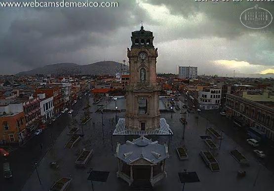 Tormenta con granizo en Pachuca, HIdalgo (Twitter @webcamsdemexico)