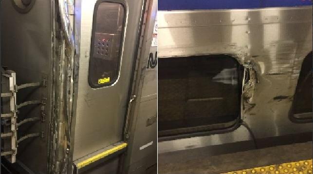 Tren descarrila en las inmediaciones de la Penn Station, en Nueva York (Twitter @TransitAccident)