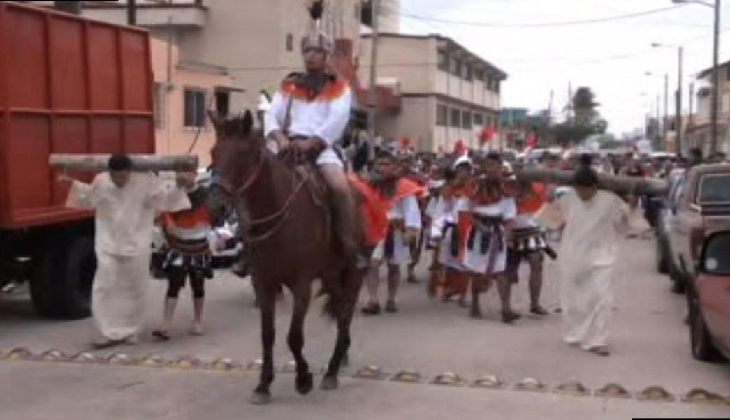 Veracruzanos realizan la representación de la Pasión de Cristo; representantes de la Iglesia y autoridades se preparan para la Semana Santa (Noticieros Televisa)