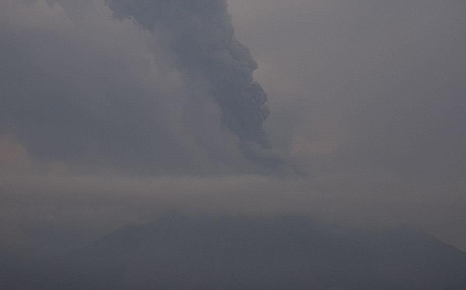 Explosión del Volcán de Colima.
