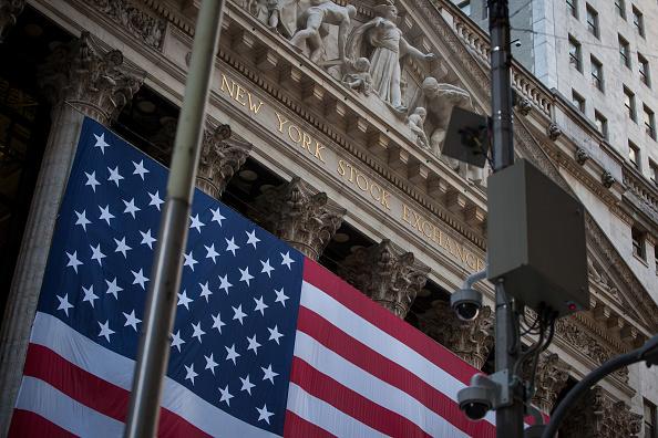 Fachada de la Bolsa de Nueva York. (Getty Images)