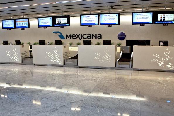 Mostrador de extinta aerolínea Mexicana de Aviación en el AICM. (Getty Images, archivo)