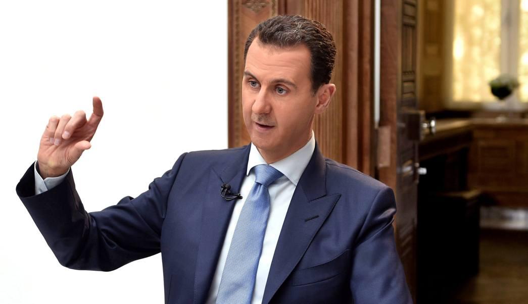 El presidente de Siria, Bashar al-Assad, habla durante una entrevista con el periódico croata Vecernji List en Damasco, Siria. (Reuters)