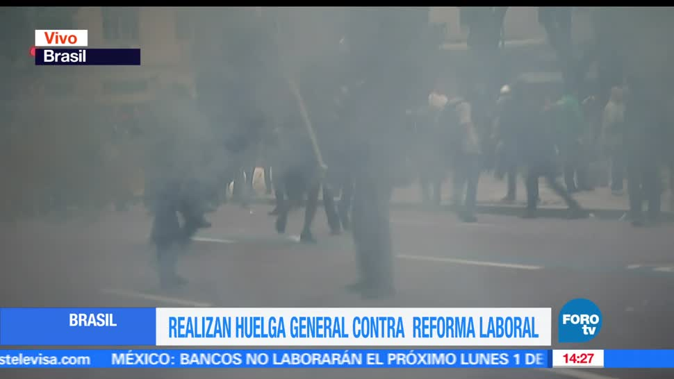 Televisa News, disturbios en Brasil, protestas, modificaciones, leyes laborales, Michel Temer,