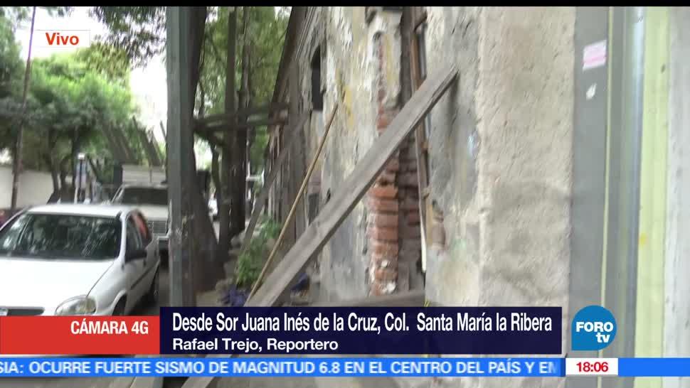 Barda, punto de colapsar, Santa María la Rivera, predio abandonado, televisa news, noticias