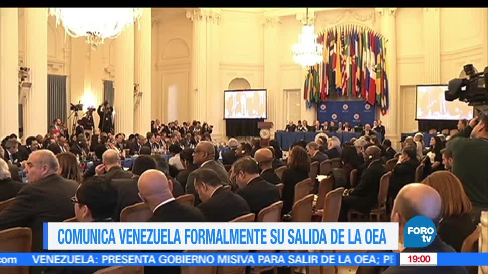 Venezuela, Comunica, salida, OEA, Organización de los Estados Americanos, Nicolás Maduro,