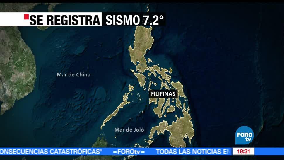 Sismo, magnitud 7.2, Filipinas, Alerta, Tsunami