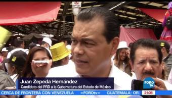 Juan Zepeda, Visita, Zumpango, PRD, Estado de México