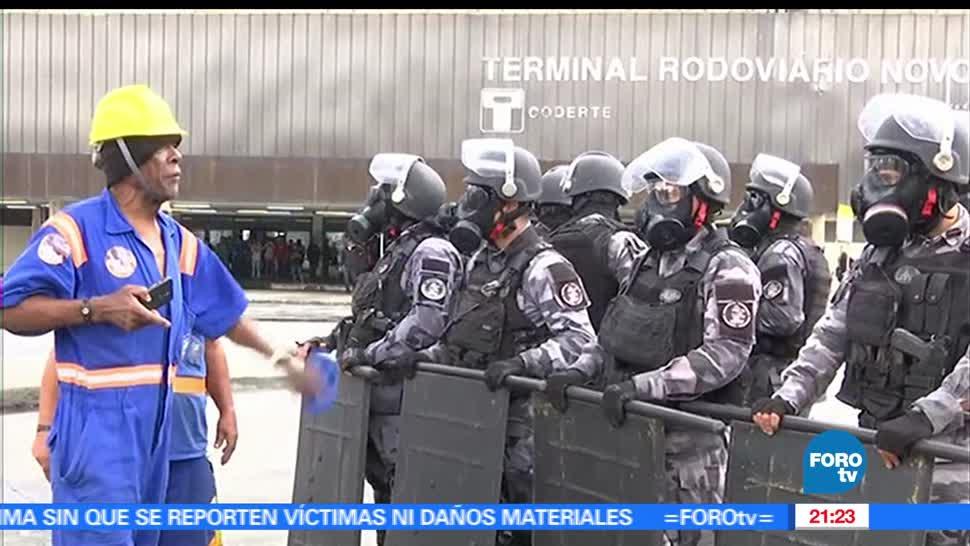 Brasil, Estalla, Violencia, huelga general, Manifestaciones, Protestas