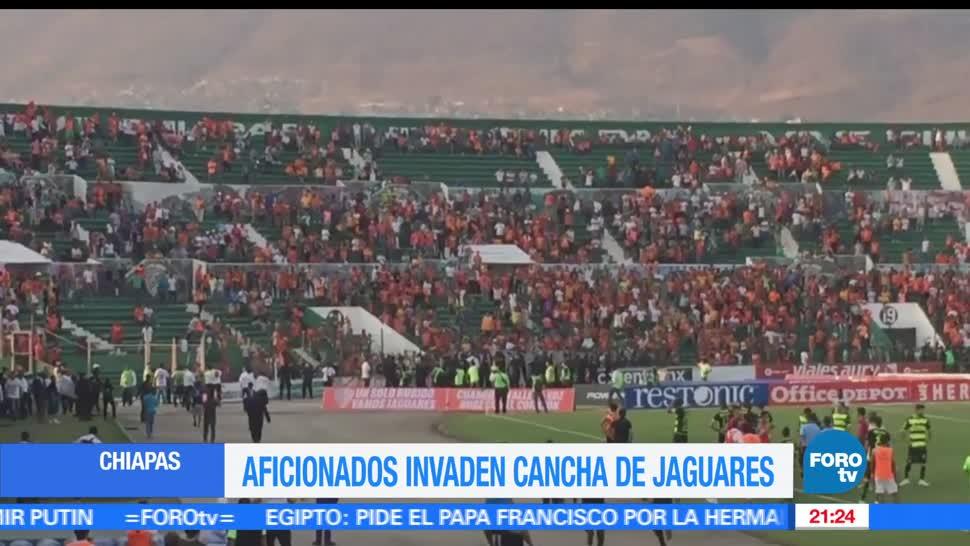Enfrentamiento, Aficionados, Jaguares de Chiapas, Santos de Torreon, Futbol, Seguidores