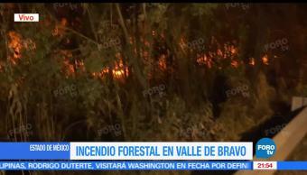 Incendio, Forestal, Valle de Bravo, Estado de México, Bomberos, Combaten