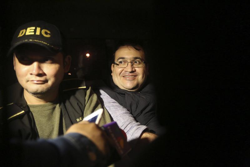 Javier Duarte, exgobernador de Veracruz, fue detenido el sábado en Guatemala. (EFE)