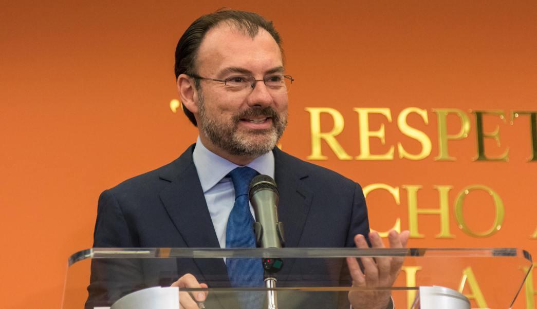 El canciller Videgaray rechazó tener prisa por renegociar el TLC en 2017, debido a un supuesto interés por ser candidato a la presidencia en 2018. (Notimex)