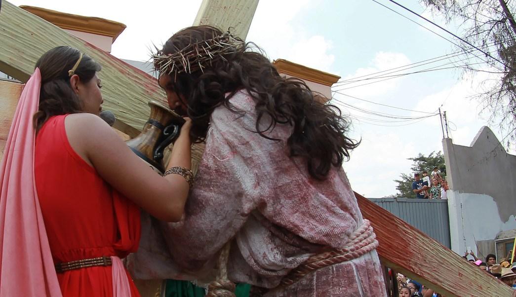 Con saldo blanco concluyó la 174 representación de la Pasión y Muerte de Jesucristo en Iztapalapa. (Notimex)