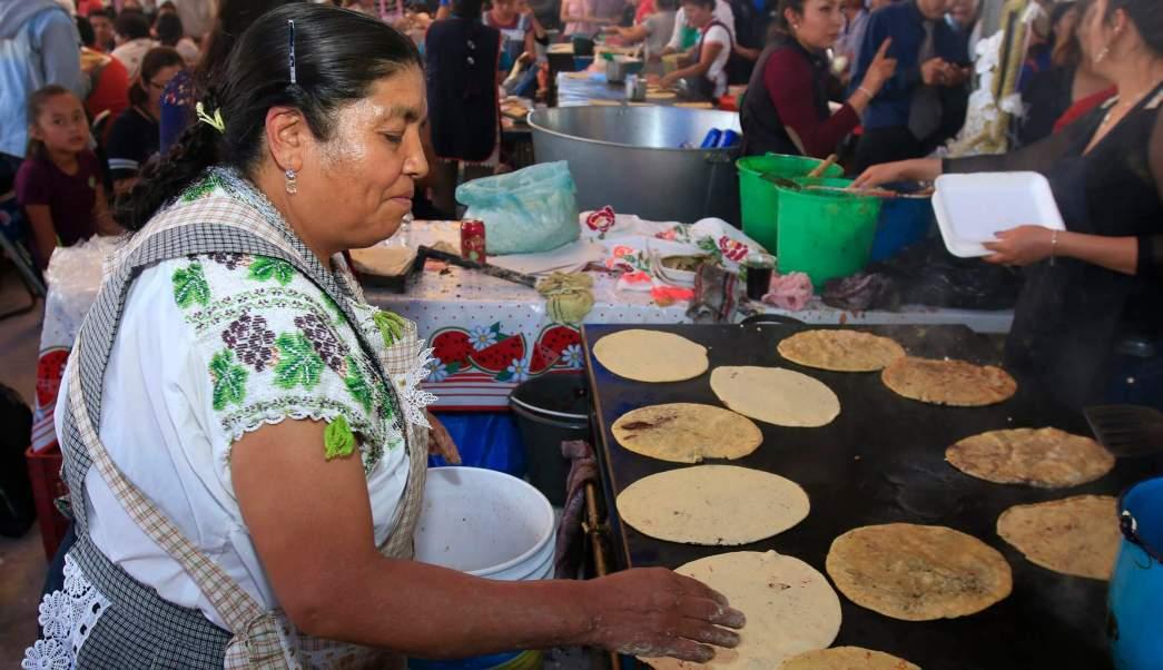 Séptima Feria de la Gordita en Puebla. (Notimex)