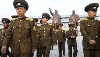 85 aniversario de la fundación del Ejército de Corea del Norte. (Reuters)