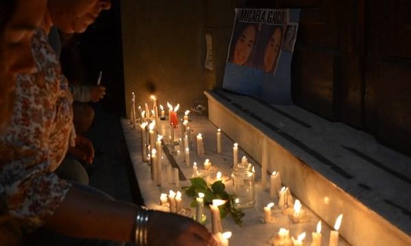 Actos de homenaje a la activista argentina Micaela Garcia de 21 años (EFE)